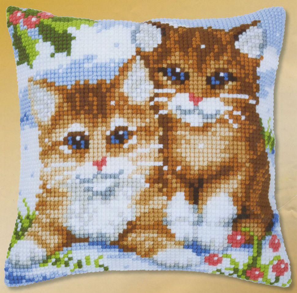 Как вышивку на подушку